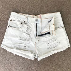 Levi's 517 High Waisted Denim Shorts